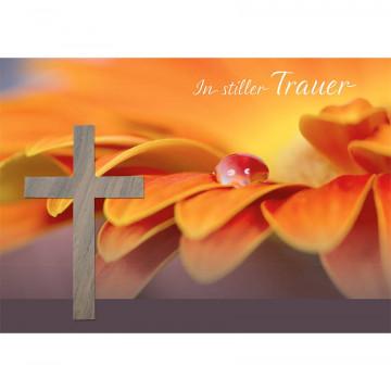 Doppelkarte In stiller Trauer (5 Stück)
