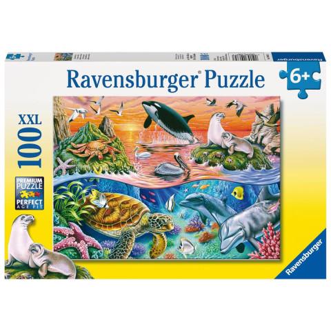 Bunter Ozean. Puzzle 100 Teile XXL