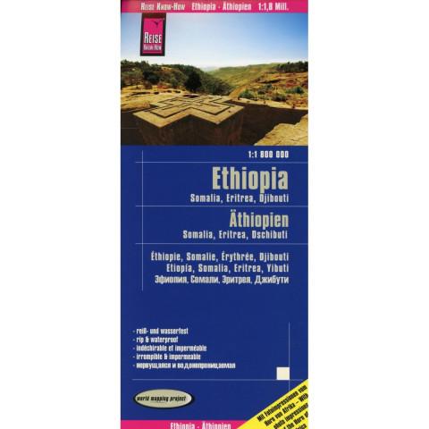 Reise Know-How Landkarte Äthiopien, Somalia, Eritrea, Dschibuti / Ethiopia, Somalia, Djibouti, Eritr