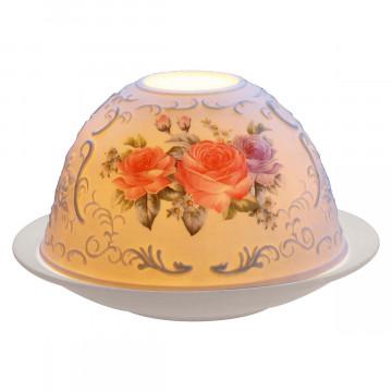 Porzellanwindlicht »Rosen«