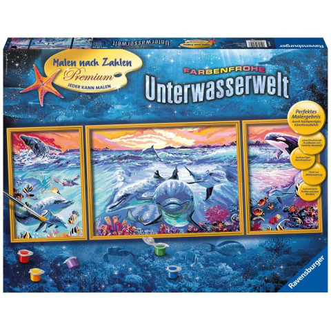 Farbenfrohe Unterwasserwelt. Malen nach Zahlen Sonderserie Premium