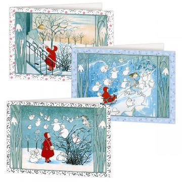 3er-Set Grußkarten »Winterzauber«