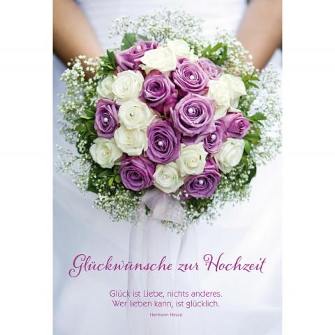 Glückwunschkarte Glückwünsche zur Hochzeit (6 Stück)