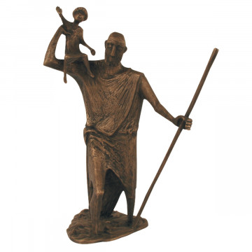 Bronzefigur - Christophorus (1 Stück)