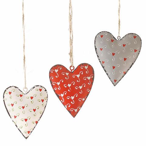 6er-Set: Anhänger »Herzen«