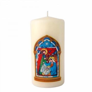 Weihnachtskerze »Elfenbein«