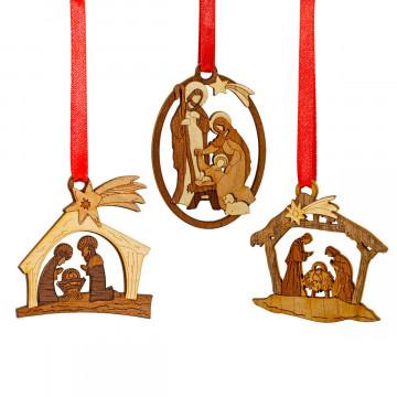 3er-Set Christbaumanhänger »Heilige Familie«
