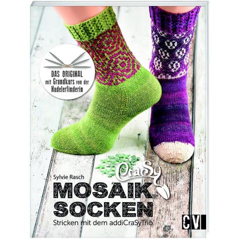 CraSy Mosaik - Socken Stricken mit dem addiCraSyTrio