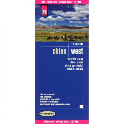 Reise Know-How Landkarte China, West 1 : 2.700.000