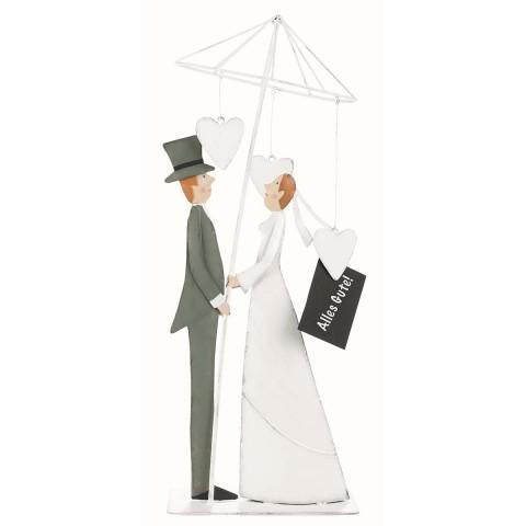 Deko-Figur »Brautpaar mit Schirm«
