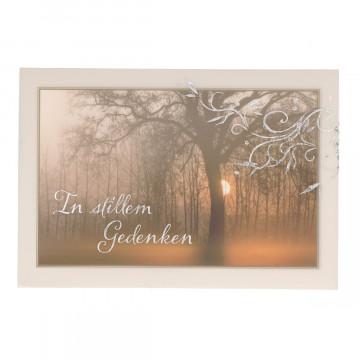 Trauerkarte mit Transparentumleger In stillem Gedenken (6 Stück)