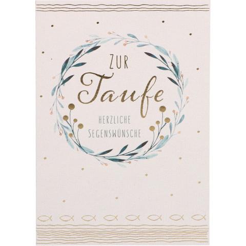 Glückwunschkarte - Zur Taufe herzliche Segenswünsche (6 Stück)