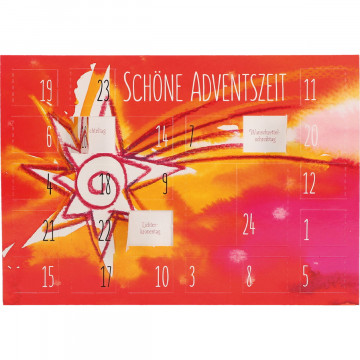 Adventskalenderkarte (6 Stück)