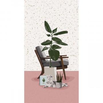 Plant it - Love it! Schmales Notizheft Motiv Grünes Heim