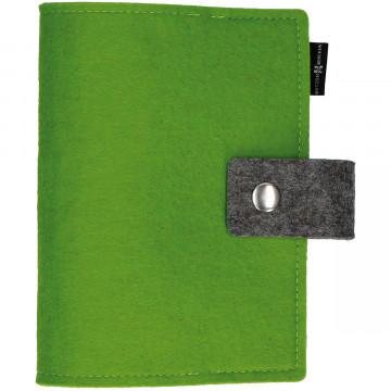 Gotteslob-Buchhülle aus hellgrünem Wollfilz mit Druckknopf (1 Stück)