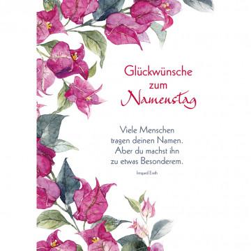 Postkarte Glückwünsche zum Namenstag (10 Stück)