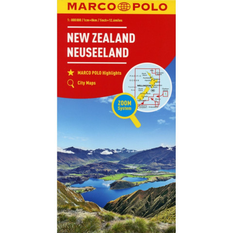 MARCO POLO Länderkarte Neuseeland 1:800.000