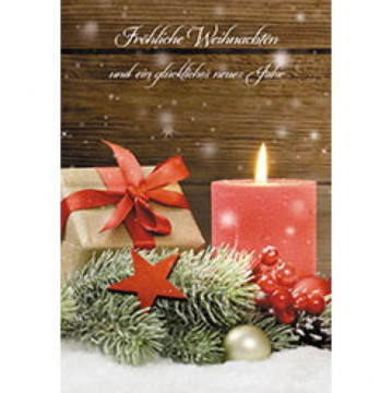 Glückwunschkarte Fröhliche Weihnachten und ein glückliches neues Jahr (6 Stück)