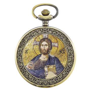 Taschenuhr Christus Mosaik