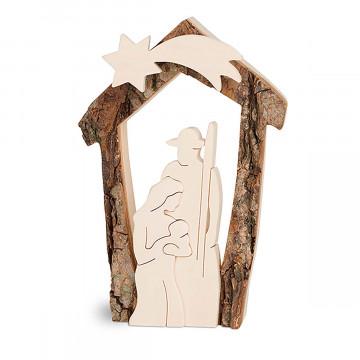 Rindenkrippe »Maria und Josef«