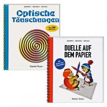 2er Set Optische Täuschungen und Duelle auf dem Papier