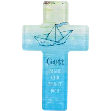 Kinderkreuz - Gott segne und behüte dich aus Acrylglas (1 Stück)