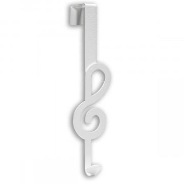 Türgarderobenhaken »Notenschlüssel weiß«