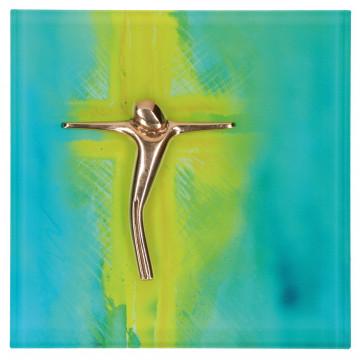 """Glasrelief """"Kreuz"""""""