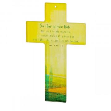 Glaskreuz »Der Herr ist mein Hirte«