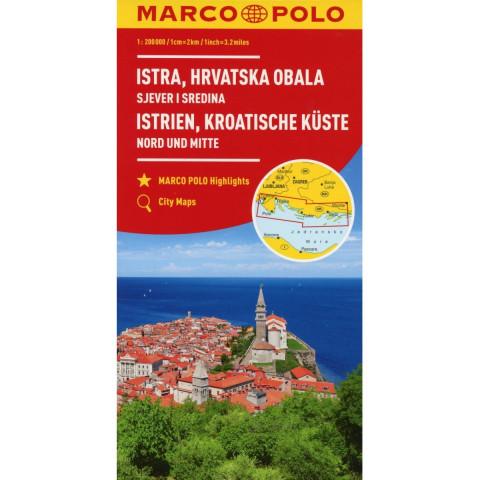 MARCO POLO Karte HR Istrien, Kroatische Küste 1:200 000