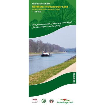 Wanderkarte NRW: Nördliches Tecklenburger Land 1 : 25 000