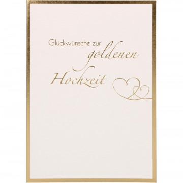 Glückwunschkarte Glückwünsche zur goldenen Hochzeit (6 Stück)