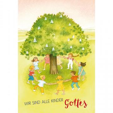Glückwunschkarte zur Kommunion Wir sind alle Kinder Gottes (6 Stück)