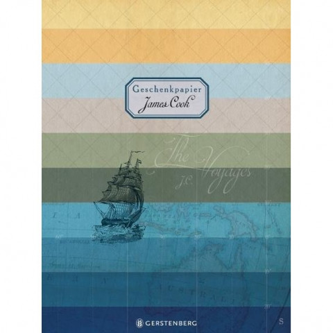 James Cook Geschenkpapier-Heft - Motiv The Voyages
