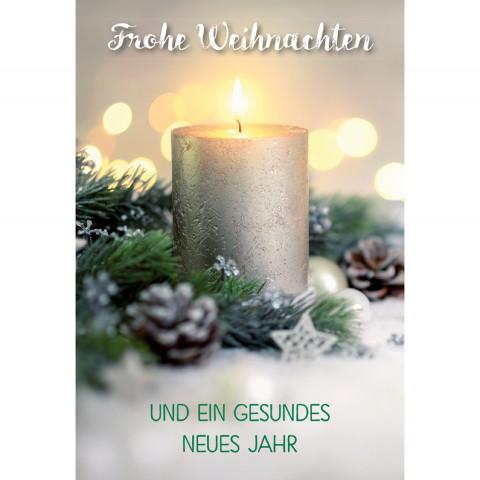Glückwunschkarte - Frohe Weihnachten und ein gesundes neues Jahr (6 Stück)