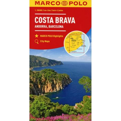 MARCO POLO Karte Costa Brava, Andorra, Barcelona 1:200 000