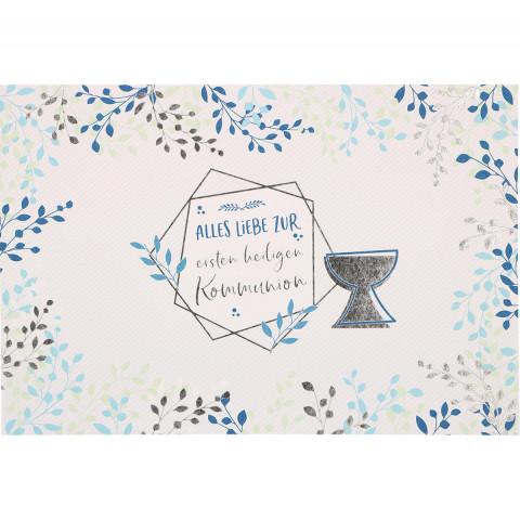 Glückwunschkarte Alles Liebe zur ersten heiligen Kommunion (6 Stück)