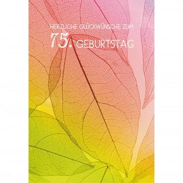 Glückwunschkarte Herzliche Segenswünsche zum 75. Geburtstag (6 Stück)