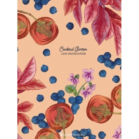 Cocktail Garten Geschenkpapier-Heft - Motiv Blaubeeren