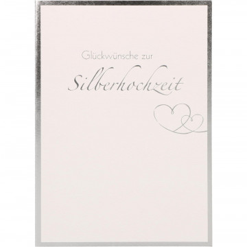 Glückwunschkarte Glückwünsche zur Silberhochzeit (6 Stück)