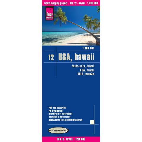 Reise Know-How Landkarte USA 12, Hawaii 1 : 200 000