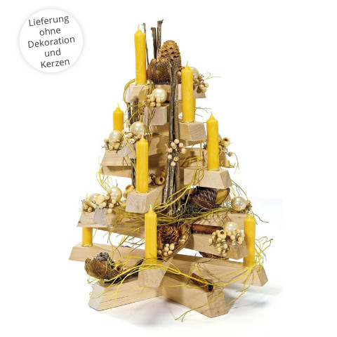 Adventsholzbaum aus Birkenholz