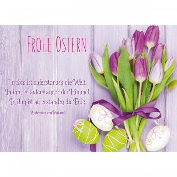 Glückwunschkarte Frohe Ostern (6 Stück)