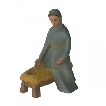 Maria, sitzend, mit Barren