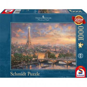 Thomas Kinkade, Paris, Stadt der Liebe Puzzle 1.000 Teile