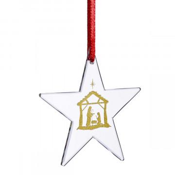 Kristallglasstern »Gesegnete Weihnachten«