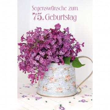 Glückwunschkarte Segenswünsche zum 75. Geburtstag (6 Stück)
