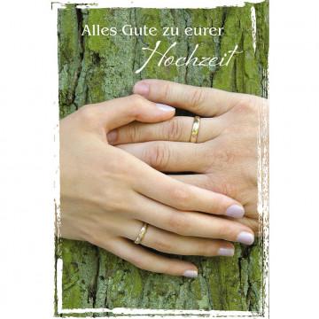 Glückwunschkarte Alles Gute zu eurer Hochzeit (6 Stück)