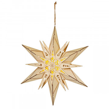LED Stern aus Holz