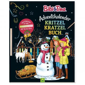 Bibi & Tina Adventskalender Kritzell-Kratzel Buch